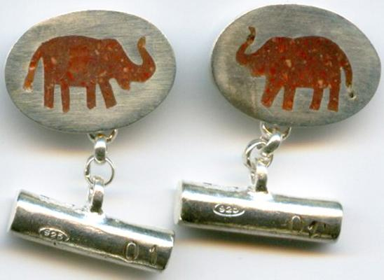elephant florentine silver