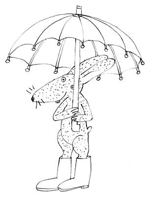 rabbit & umbrella