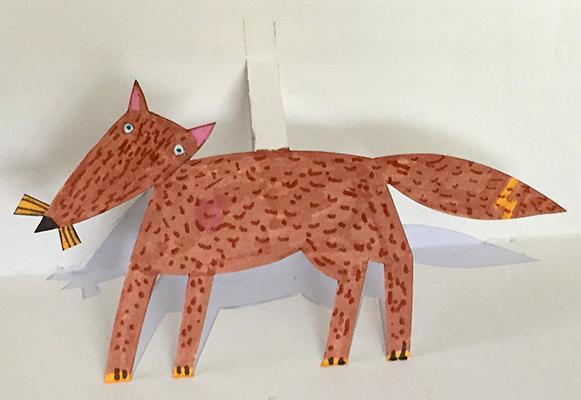 cut out fox