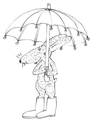 rabbit & umbrella