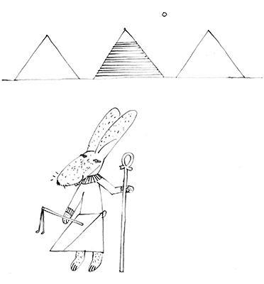 rabbit & pyramids